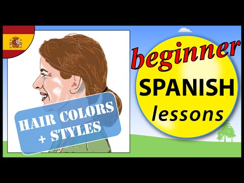 Hair colors and styles in Spanish | Beginner Spanish Lessons for Children
