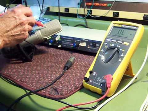 Large Area Condenser Microphone Hum Problem
