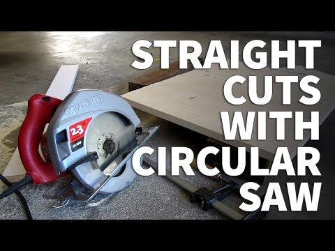 How to Cut a Straight Line with a Circular Saw in Plywood MDF or Particle Board