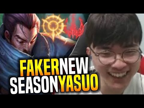 Faker is Back with Yasuo Ready for New Season! - SKT T1 Faker Plays Yasuo With New Runes Preseason 8