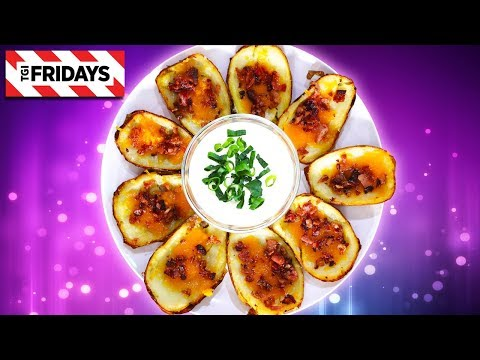 TGI Fridays Loaded Potato Skins | Homemade Recipe