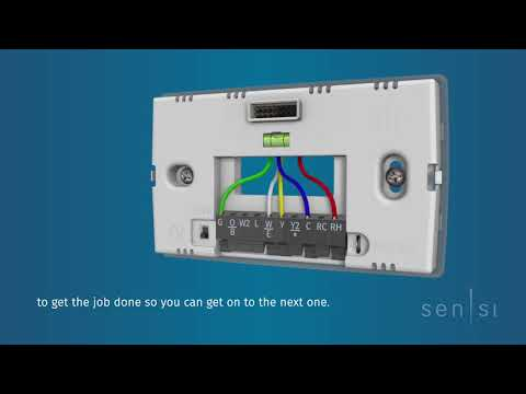Emerson Sensi Touch Wi-Fi Thermostat - Built-In Install Tools Makes Installation Quick and Easy