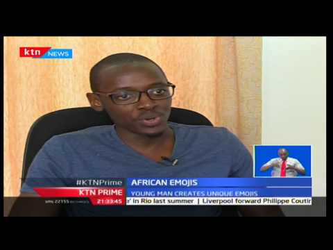 INNOVATION: A young man creates unique African emoticons