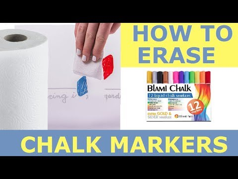 How to erase Blami Chalk Markers
