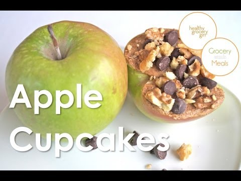 How To Make Cupcakes with Apples | Quick Healthy Recipe | The Healthy Grocery Girl® Show