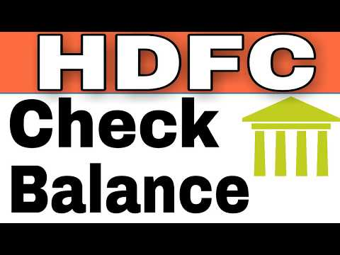 How To Check HDFC Bank Balance By Missed Call And SMS From home