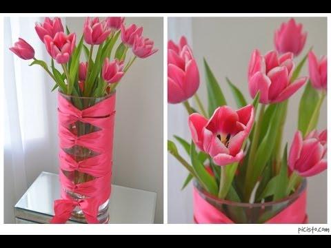 DIY Corset Vase with Cut Tulips