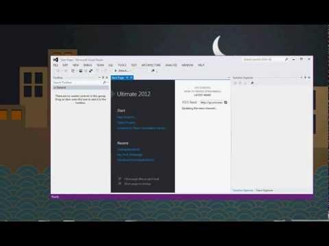 Simple program of ASP.NET tutorials in Visual studio 2012