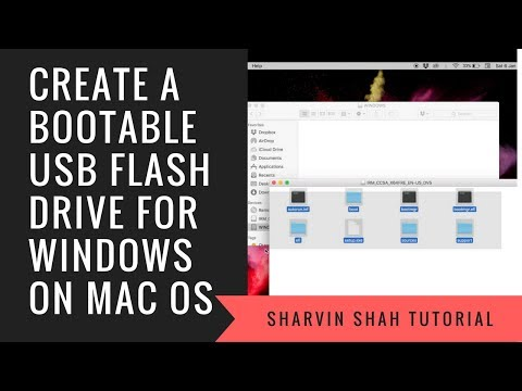 Create a Bootable USB Flash Drive for Windows on MAC OS X | Sharvin Shah