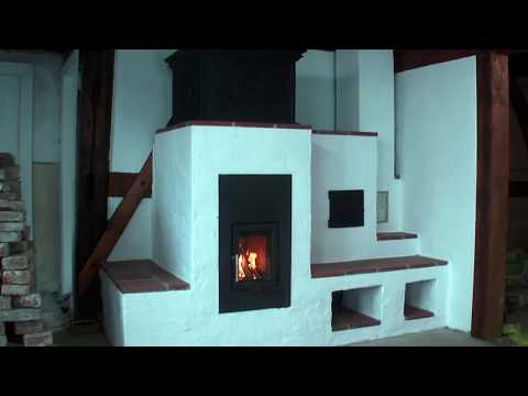 Making a woodstove with bricks and cast metal
