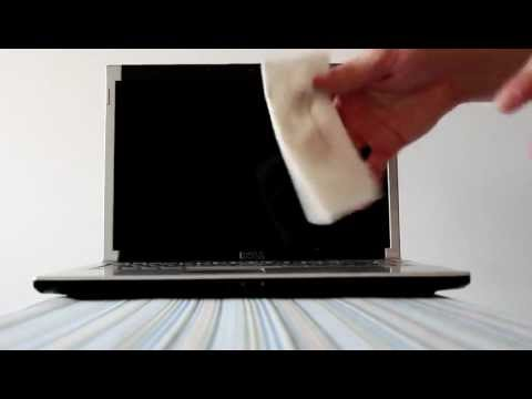 How to clean the keyboard and body of a laptop computer