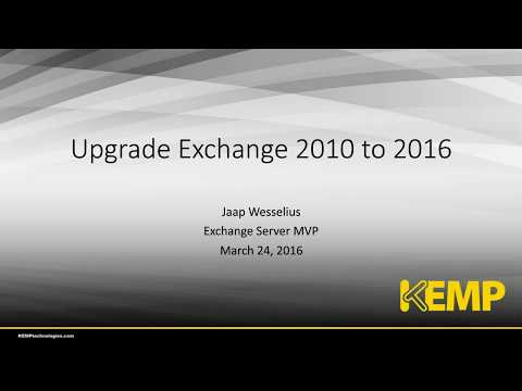 Migrating Microsoft Exchange 2010 to 2016 with MVP Jaap Wesselius