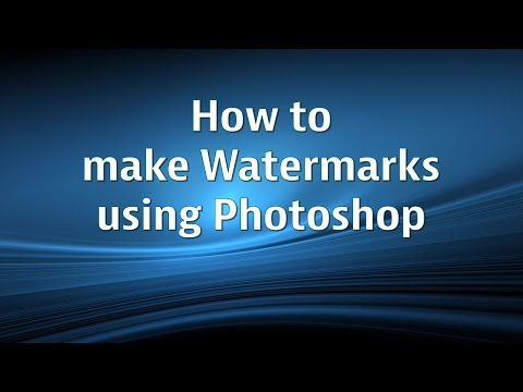 How to add a Watermark using Photoshop CS5