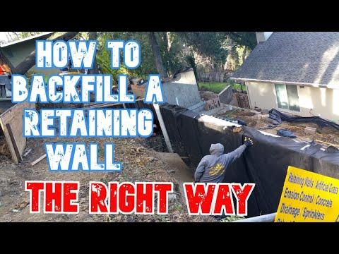 Drainage & Backfill Retaining Wall Hillside; Pleasanton, CA (time lapse)