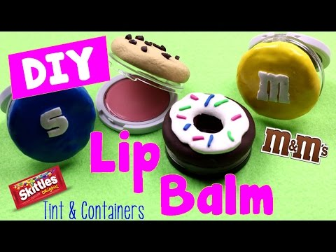 DIY Crafts How To Make Lip Balm Containers & Tint Lip Gloss (Sweet Treats Candy Cookies Donuts)