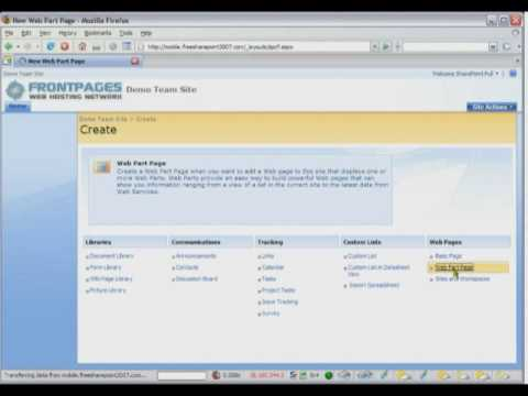 SharePoint 2007 Tutorial - How To Create a SharePoint Web Part Page