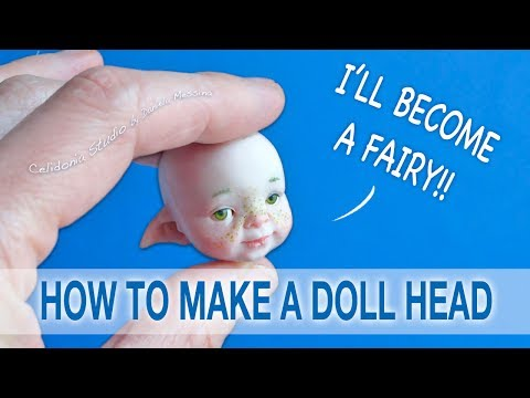 How to make a Fairy Doll Head from Polymer Clay