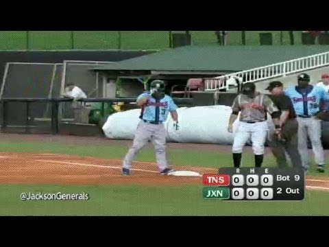 Jae-Hoon Ha opens the Smokies' game with a hit