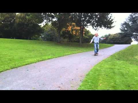 Skateboarding speed wobble. James Little learning how not to skate.