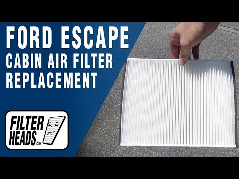 How to Replace Cabin Air Filter 2015 Ford Escape