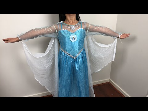 How to make Frozen Elsa cape using curtain material - finished outfit