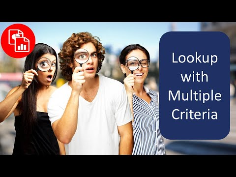 Perform a Lookup with Multiple Criteria