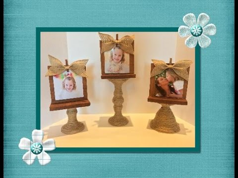 DIY Picture Stand made from a dollar store item