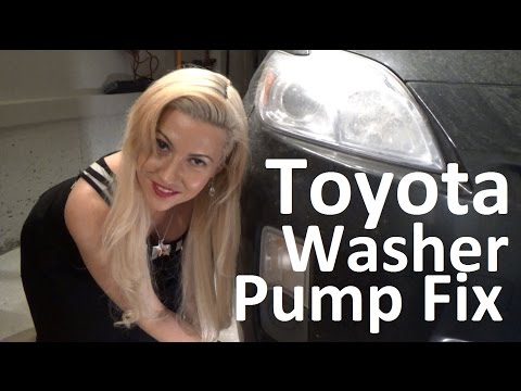 How to repair replace windshield washer pump hose Toyota Prius