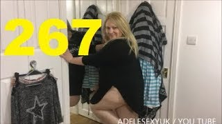 Adelesexyuk Trying On A Black Primarnie Nightshirt Cleaning Outfit