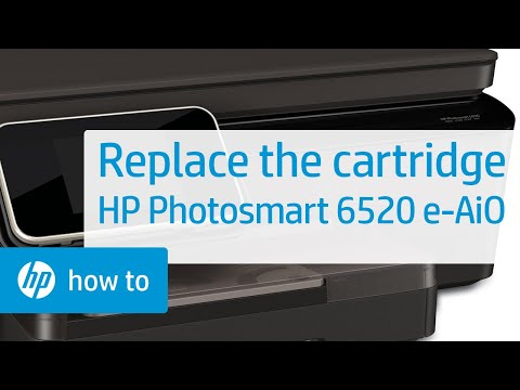 Replacing a Cartridge - HP Photosmart 6520 e-All-in-One Printer