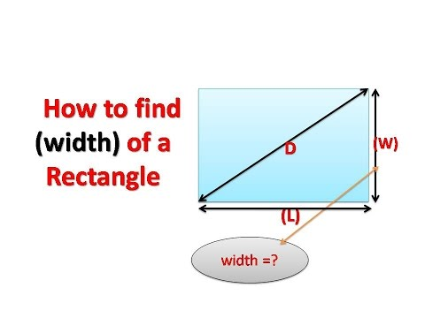 How to find the (width) of a rectangle