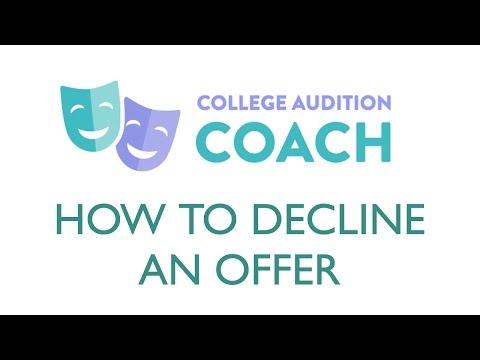 How To Decline an Offer