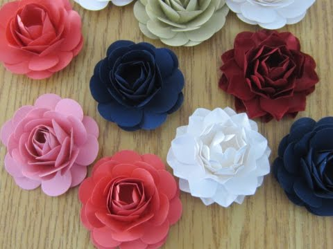 HOW TO MAKE PAPER FLOWERS WITH A PUNCH