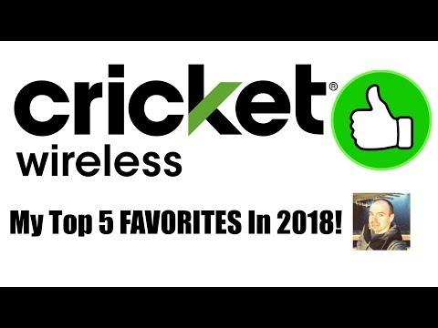 Cricket Wireless - My Top 5 FAVORITES In 2018!