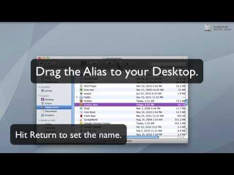 How to Make a Desktop Shortcut in Mac OS X