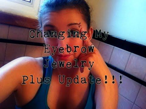 Changing My Eyebrow Piercing | Two Week Update