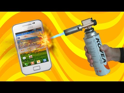 What happens if gas torch burn the phone. Extreme phone test. Samsung battery explosion