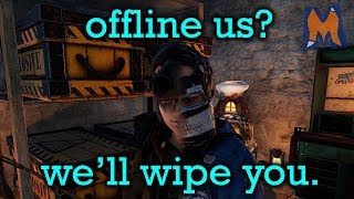 They offlined us… SO WE WIPED THEM OFF THE SERVER! | Rust Vanilla+ Trio Survival gameplay Episode 2