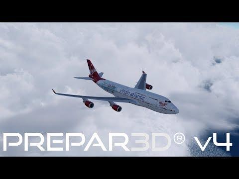 Prepar3D V4.2 | Manchester to Barbados | EGCC-TBPB | PMDG 747-400ER | P3D
