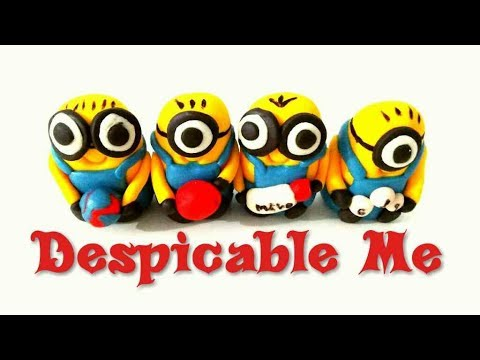 How to make MINIONS with fondant.  Despicable Me theme cake/cupcake toppers with fondant.