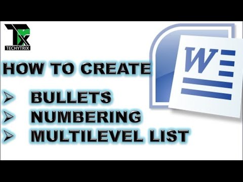 bullets and numbering in ms word in hindi