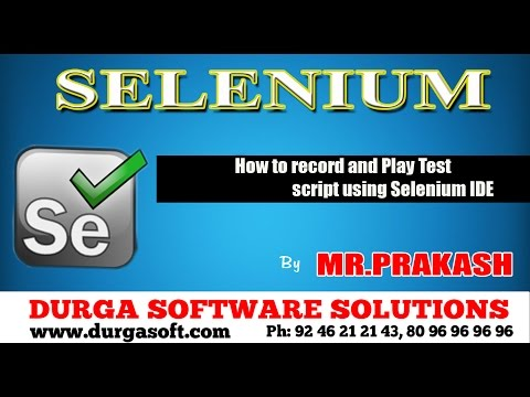 How to record and Play Test script using Selenium IDE