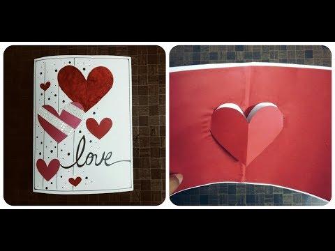 Handmade Pop Up Card for boyfriend : complete tutorial