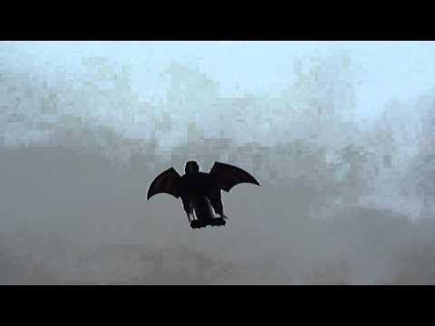Halloween RC Plane Flying Grim Reaper.
