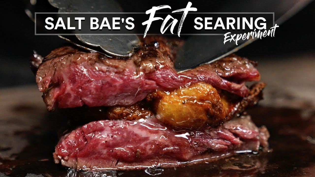 Salt Bae's HOT FAT Searing Experiment | Guga Foods