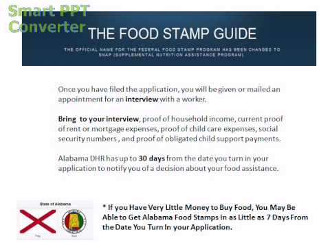 How to Apply for Food Stamps in Alabama