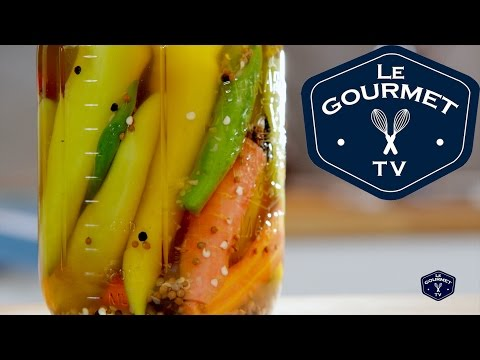 Quick' Pickled Hot Peppers Recipe || Le Gourmet TV Recipes