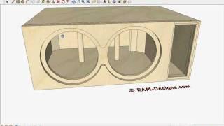 RAM Designs: Sundown Audio SA-10 Bandpass Box Design | Music Jinni