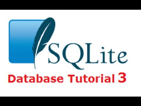 SQLite Tutorial 3 : Working with important SqLite Queries (SELECT, INSERT, DELETE, UPDATE,WHERE...)