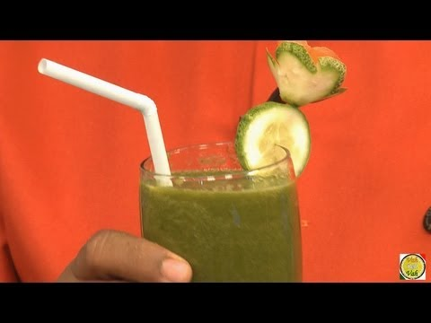 Spinach - iron rich Juice for Anemic - By Vahchef @ vahrehvah.com